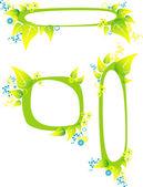 Frame flower Green — Stock Vector