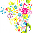Music playing - Stock Vector