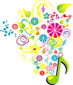Music playing — Stock Vector