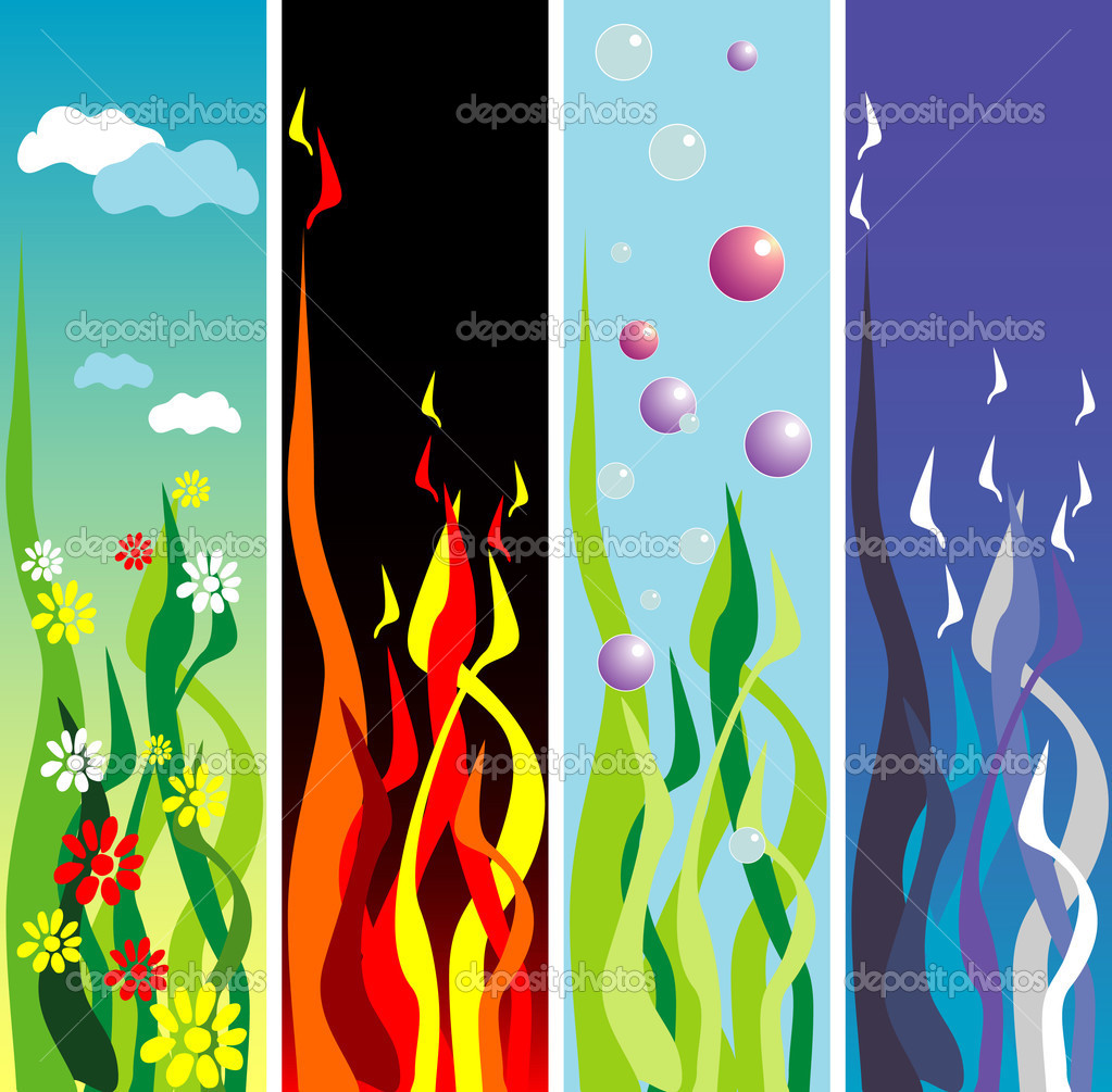 Earth Air Water Fire Symbols http://depositphotos.com/2567174/stock-illustration-Earth-fire-water-air.html