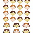 Royalty-Free Stock Vector Image: Children\'s faces