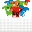 Composition with T-shirts 3 — Stock Vector #2210343