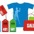 Royalty-Free Stock Imagen vectorial: Discounts for clothes 2