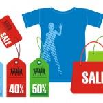 descuentos para ropa 2 — Vector de stock