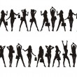 Royalty-Free Stock Imagen vectorial: Figures of girls 2