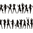Royalty-Free Stock Vectorielle: Figures of girls 2