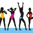 New bathing suits 2 — Imagen vectorial