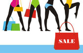 Kleidung-Verkauf 6 — Stockvektor