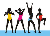 New bathing suits 2 — Vector de stock