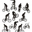 Silhouettes of bicyclists — Stock Vector #2228675