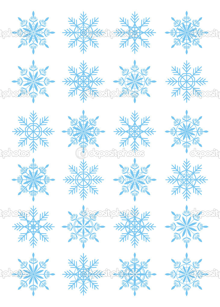 Composition from snowflakes. All snowflakes different under the form and on a design. They remind difficult ornaments. — Stock Vector #2229184
