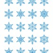 Stock Vector: Christmas snowflakes 1