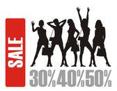 The big sale 4 — Stock Vector
