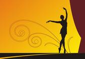 The dancing ballerina 1 — Stock Vector