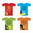 T-shirts for extreme sports 1 — Stock Vector