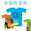 T-shirts for extreme sports 2 - Image vectorielle