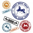 Stamp with a horse 2 - Stock Vector