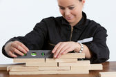 Woman with tools — Stock Photo