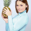 Woman with pineapple — Stock Photo #2280512
