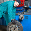 Mechanic in garage — Stock Photo #2373312