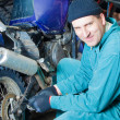 Mechanic in garage — Stock Photo #2373669