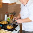 Cook man in kitchen — Stock Photo #2396500