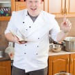 Cook man in kitchen — Stock Photo #2396514