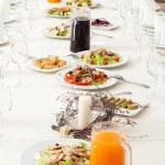 Served restaurant table — Stock Photo