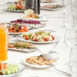 Served restaurant table - Stock Photo