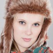 Woman with fur hat — Stock Photo #2458367
