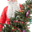Stock Photo: Santa Claus with Christmas tree