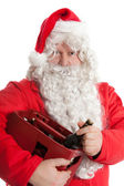 Santa Claus with beer — Stock Photo