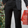 Royalty-Free Stock Photo: Business man with christmas presents