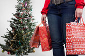 Woman with christmas presents 2 — Stockfoto