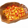 Stock Photo: Orange Rose Petals
