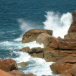 Stock Photo: Ocewaves and rocky coast