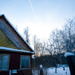 Sky and winter house — Stock Photo #2253599