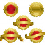 Gold award - medal — Stock Vector