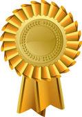 Gold Rosette Award — Stock Vector