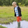 Puddle jumping — Stock Photo