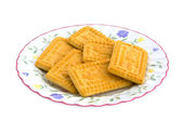 Plate of biscuits — Stock Photo