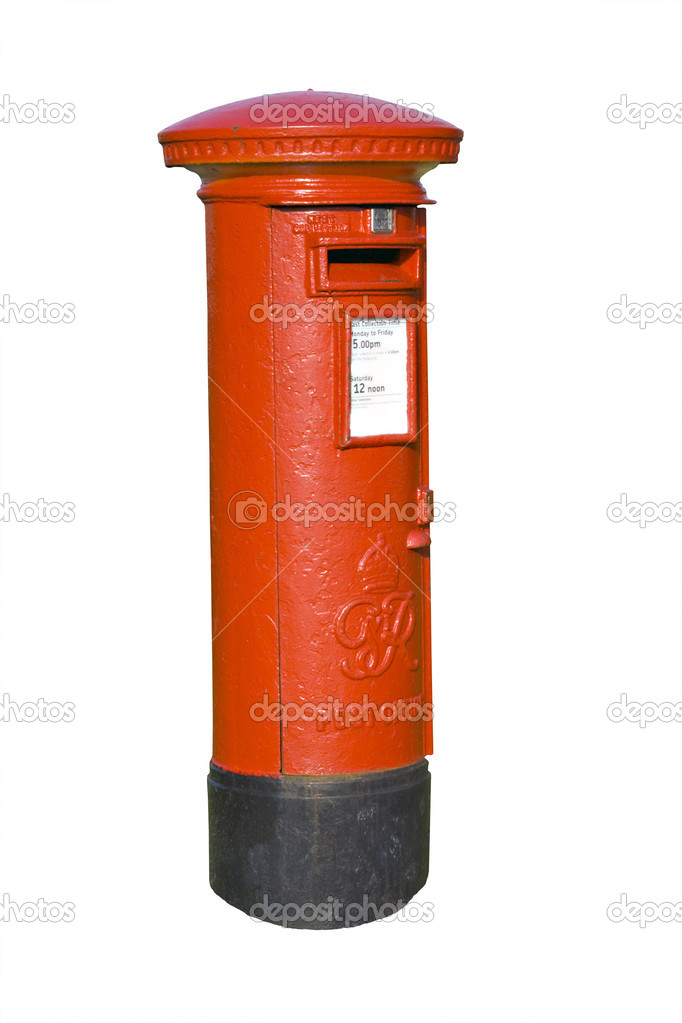 Traditional red British mail pillar box — Stock Photo #2563024