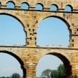 Stock Photo: Pont du Gard detailed