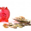 Red pig for saving money — Stock Photo