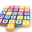 Learning the alphabet — Stock Photo