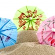 Tropical parasols — Stockfoto
