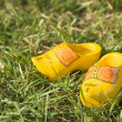 Dutch wooden shoes — Stock Photo