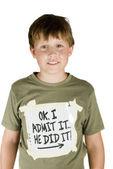 признание от непослушный мальчик — Стоковое фото