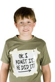 Confissão de um menino travesso — Foto Stock