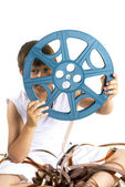 Reel from celluloid movie — Stock Photo